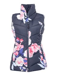 Joules Printed Padded Collar Gilet Multi Coloured Multi Coloured