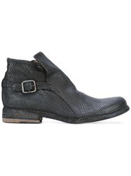 Officine Creative Legrand Zip Ankle Boots Black