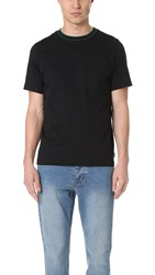 Paul Smith Striped Rib Neck Tee Black