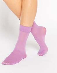 Gipsy Luxury Ankle High Two Pack Socks Lilac Purple