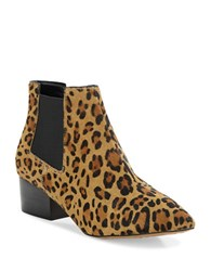 French Connection Ronan Calf Hair Booties Brown Leopard
