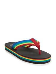 Saint Laurent Rainbow Thong Sandals