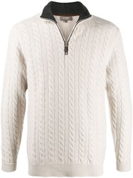 N.Peal Cable Knit Jumper Neutrals