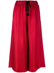 Forte Forte Wide Leg Cropped Trousers Women Nylon Viscose 1 Red
