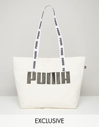 Puma Exclusive To Asos Shopper Bag With Tapered Handles Vanilla Sky Cream