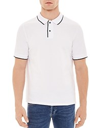 Sandro Liner Classic Fit Polo White