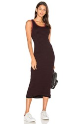 Sundry Fitted Midi Dress Black