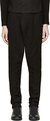 Ma Julius Black Paper Blend Harem Trousers