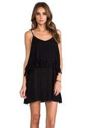 L Space Wild Fringe Tunic Black