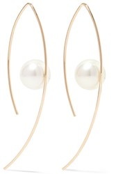 Mizuki 14 Karat Gold Pearl Earrings