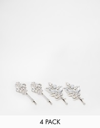 New Look Crystal Flower Hair Clip