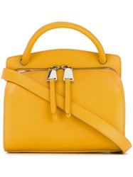 Jil Sander Removable Strap Mini Tote Yellow And Orange