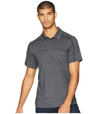 Smartwool Everyday Exploration Short Sleeve Polo Charcoal Short Sleeve Pullover Gray