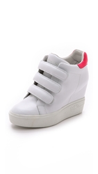 Ash Avedon Wedge Sneakers White Neon Pink