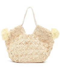 Ulla Johnson Lalo Mini Straw Tote Beige