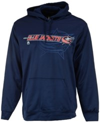 Majestic Men's Columbus Blue Jackets Let Loose Synthetic Hoodie Navy