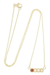 Lulu Frost Code Cool 18 Karat Gold Multi Stone Necklace