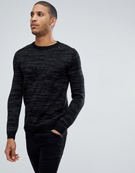 Tom Tailor Crew Neck Jumper In Twisted Yarn 2999 Black