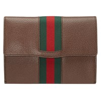 Guccitotem Leather Web Portfolio Brown