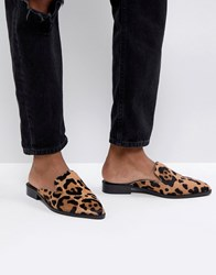 Asos Malice Leather Pointed Mules Multi