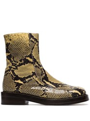 Marni Snakeskin Embossed Boots Neutrals