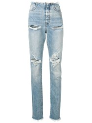 Unravel Project Distressed Skinny Jeans Blue