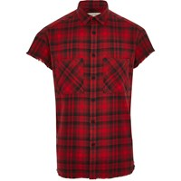 River Island Red Check Short Sleeve Casual Shirt