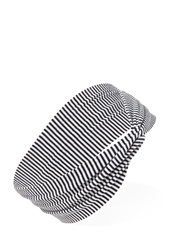 Forever 21 Striped Knotted Headwrap Black Cream