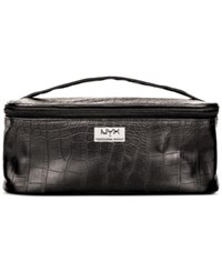 Nyx Black Croc Embossed Zipper Makeup Case No Color