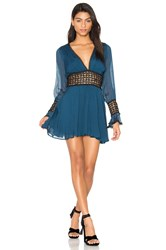 For Love And Lemons Celine Mini Dress Blue