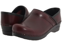 Sanita Professional Cabrio Bordeaux Brush Off Leather Women's Clog Shoes Burgundy