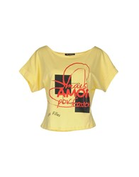 Les Filles T Shirts Light Yellow