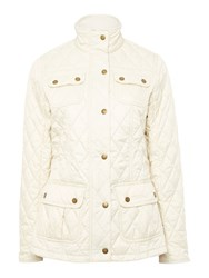 Barbour Rebecca Utility Quilted Jacket Off White