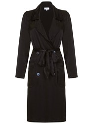 Ghost Judy Trench Coat Black