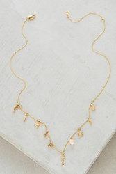 Anthropologie Key And Cosmos Layering Necklace Gold