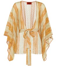 Missoni Mare Crochet Knit Cover Up Yellow