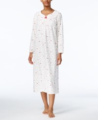 Charter Club Printed Flannel Nightgown Only At Macy's Iovry Cardinal
