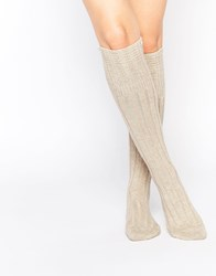Jonathan Aston Tranquil Slouch Boots Socks Beige