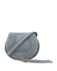 Chloe Marcie Mini Suede Crossbody Bag Gray