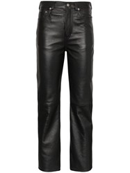 Saint Laurent Straight Leg Cropped Trousers Black