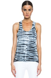 Proenza Schouler Racerback Cotton Tank In Ombre And Tie Dye Black