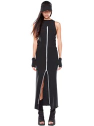 Demobaza Time Line Zip Up Cotton Vest Dress