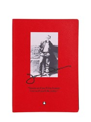 Montblanc 146 Gc James Dean Lined Notebook Red