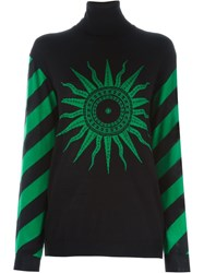 Fausto Puglisi Intarsia Knit Sweater Black