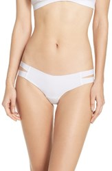 Commando Women's Strappy Sides Thong White