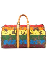 Jay Ahr Vintage Louis Vuitton Embroidered Keepall Multicolour