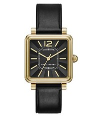Marc Jacobs Square Case And Black Sunray Dial Watch