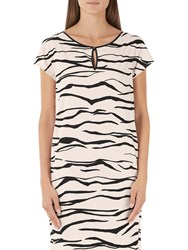 Marc Cain Tiger Print Dress Cream Black