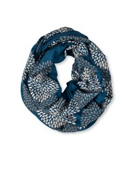 Brika Hand Printed Double Flower Infinity Scarf