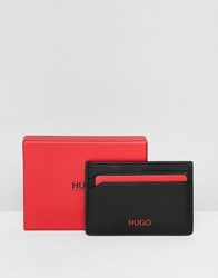 Hugo Subway Leather Card Holder In Black